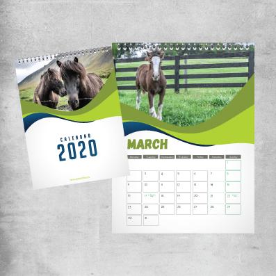Wire Bound Calendar Printing