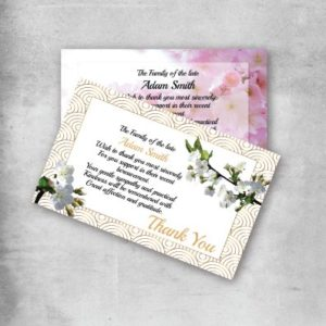 acknowledgement card printing