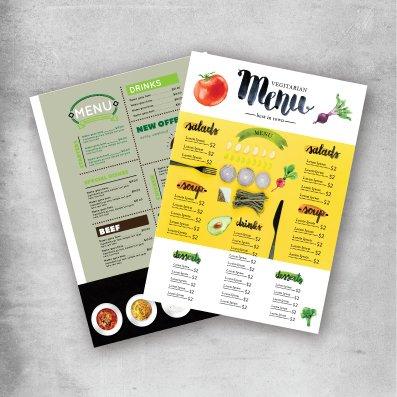 menu printing service