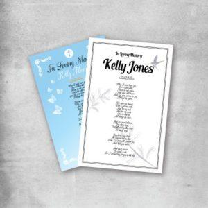 memorial card printing service