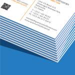 blue seam business card