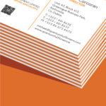 orange seam business card