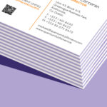 purple seam business card