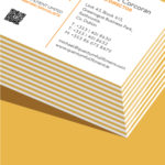 yellow seam business card