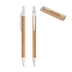 NATURA. Ball pen in cork and aluminium